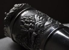 Detail, silver Document Holder
