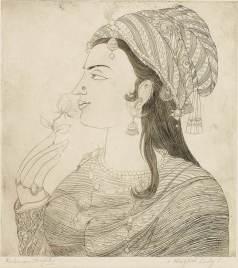 AR Chughtai, Mughal Lady